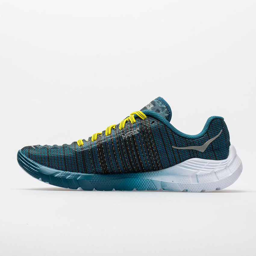 Hoka One One EVO Rehi Women's Cyan/Citrus Online large discount inventory clearing
