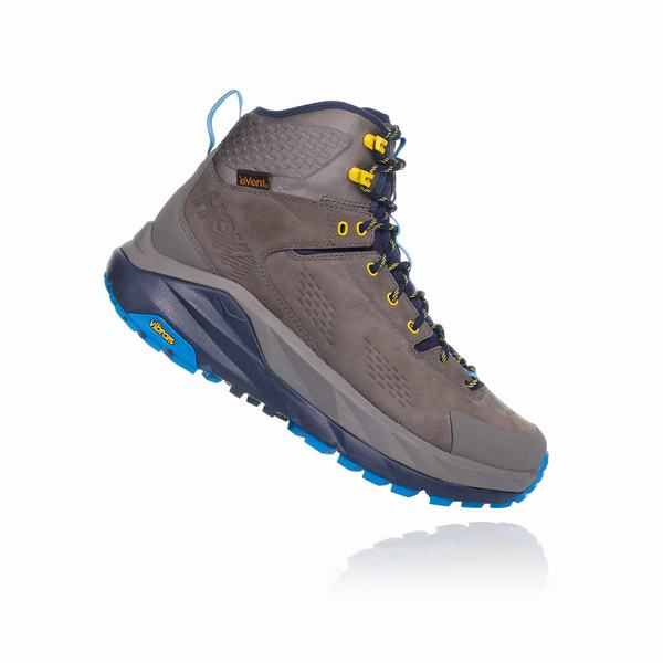 Hoka One One Sky Collection Kaha Hiking Boots Mens Grey / Blue