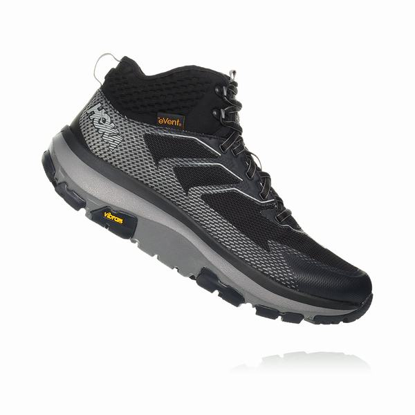 Hoka One One Sky Toa Hiking Boots Mens Black Dark Grey Cheap sales