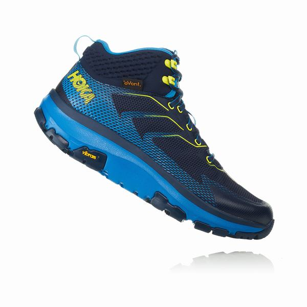 Hoka One One Sky Toa Hiking Boots Mens Black / Blue